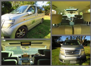 Luxury 8 seat, 4WD, with air con and video